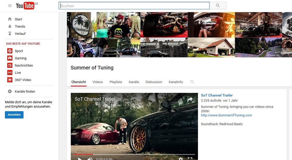 YouTube-Channel, YouTube, You Tube Kanal, Summer of Tuning